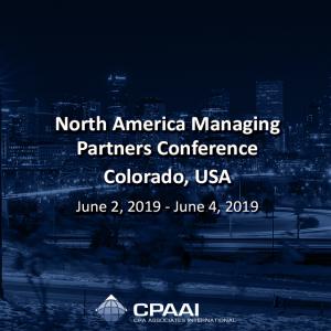 North America Managing Partners Conference – #Colorado #USA June 2, 2019 – June 4,…