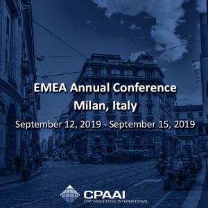 EMEA Annual Conference – Milán September 12, 2019 – September 15, 2019